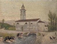 lavandaie alla roggia presso l'antica chiesa by erminio soldera