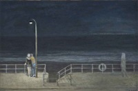 promenade at night by richard eurich