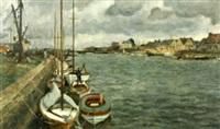 bateaux à quai by stinius frederiksen