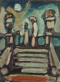 l'escalier, versailles by georges rouault