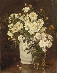 floribunda roses by johannes evert hendrik akkeringa