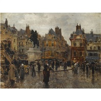 place de victoires, paris by jean lessi