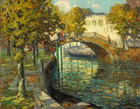 canal scene by ossip l. linde