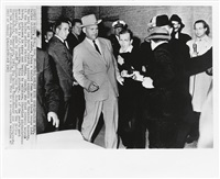 group of 3 photographs of jack ruby shooting lee harvey oswald (3 works) by robert jackson