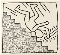 blueprint drawing #16 by keith haring