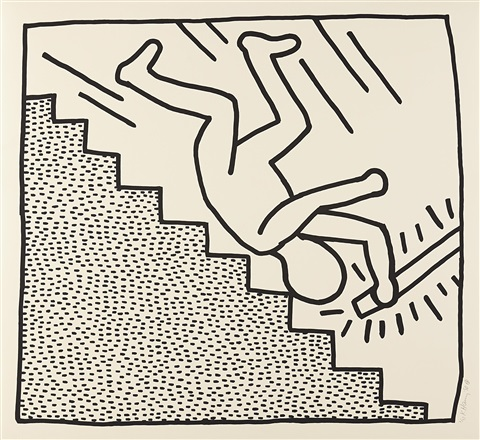 Blueprint drawing 16 by keith haring on artnet blueprint drawing 16 by keith haring malvernweather Image collections