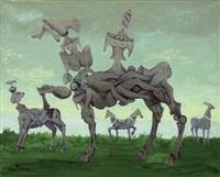 etudes de chevaux lunaires by lucien coutaud