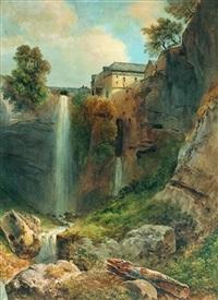 vue de la grande cascade de tivoli by jean-antoine-simeon fort