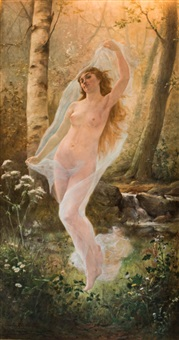 nude in a forest clearing by johannes arnoldus boland