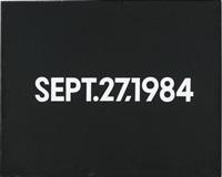 sept. 27, 1984 by on kawara