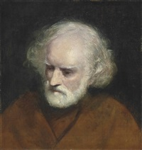 head of a bearded old man by joshua reynolds