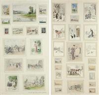 scènes de villes (scènes de campagne) (collaboration w/jules antoine voirin) (in 5 parts w/71 works) by léon joseph voirin