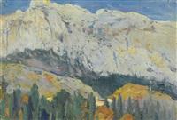 mountain view, gaspra by mikhail vasilievich nesterov