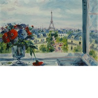 fentre sur le tour eiffel by georges yoldjoglou