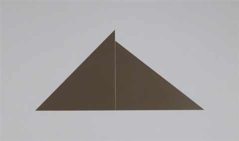 a square with two triangles by robert mangold