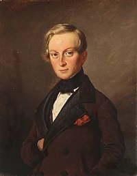 portrait of rasmus julius wandel (1815-1910) by david monies