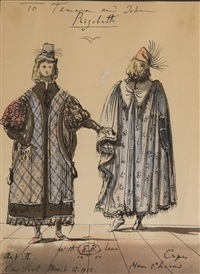 costume design for rigoletto, act ii by eugene berman