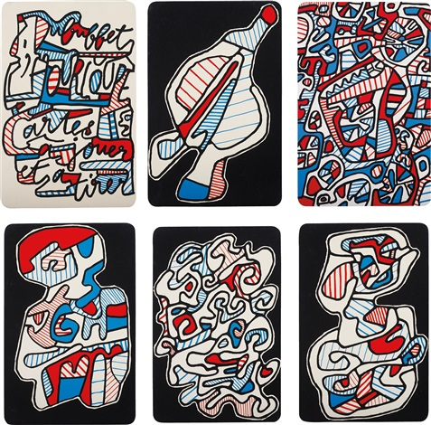 banque de lhourloupe complete set of 52 works by jean dubuffet