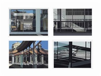 urban landscapes no. 3 : four plates (4 works) by richard estes