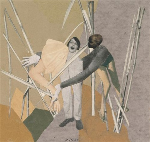 liebe in busch (love in the bush) by hannah höch