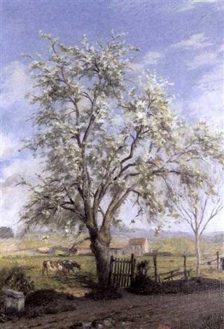 arbres au printemps by charles jean agard