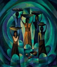 five balinese women by han snel