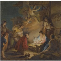 the adoration of the shepherds by francesco zugno the younger