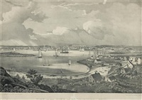 view of gloucester by fitz henry lane