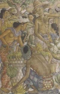 market scene by anak agung gede sobrat