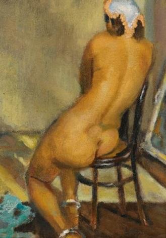 femme nue de dos aux bracelets de cheville nude from back with ankle bracelets by mahmoud said