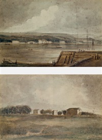 view across the potomac (georgetown?) by j. benford