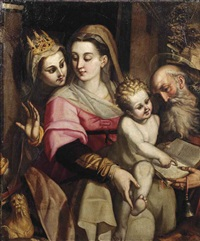 the madonna and child with two saints by orazio samacchini