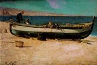 pescadores en la playa by ricardo martí aguiló