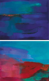 western seascape, i and ii (pair) by paddy lennon
