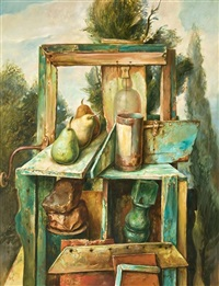 still life with pears by samuel bak