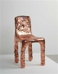unique nanocrystalline copper chair by max lamb