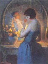 jeune femme au miroir by marcial plaza ferrand