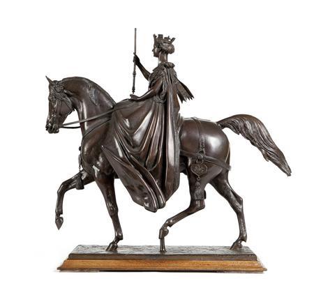 queen victoria on horseback by baron carlo marochetti