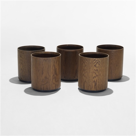 wastebaskets collection of five by jens risom