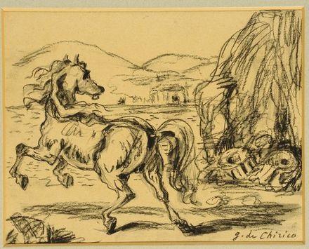 cavallo scalpitante by giorgio de chirico