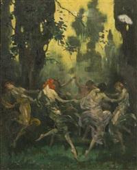 women dancing in a circle by warren b. davis