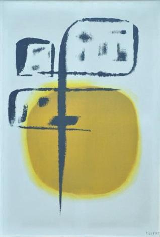 composition noire et jaune by jean piaubert