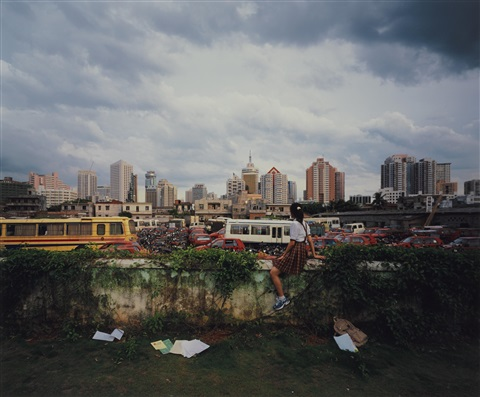 on the wall, haikou no. 6 by weng fen (weng peijun)