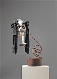 kerzenstock mit maske by eva aeppli and jean tinguely