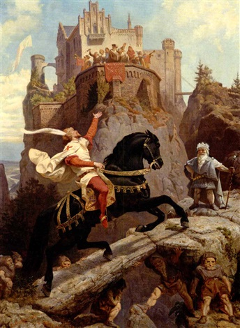 the knight of sayn and the gnomes by emanuel gottlieb leutze