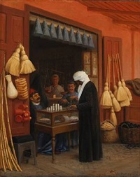 egyptian market scene from heluan by wilhelm pacht