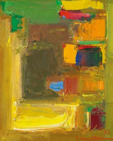 yellow accent by hans hofmann