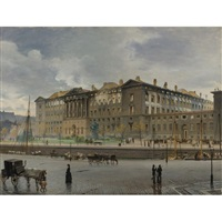 christiansborg palace after the fire by carl christian andersen
