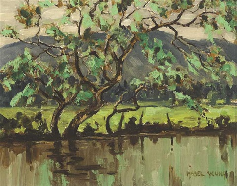 a river in spring time by mabel young