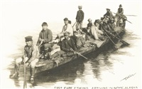 east cape eskimo arriving in nome, alaska by beverly bennett dobbs